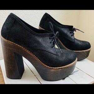 🐘 Freebird Piper Oxford Leather Heels  7 7.5 37🐘